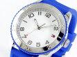 トミー ヒルフィガー TOMMY HILFIGER クォーツ メンズ 腕時計 1781129 ホワイト×ブルー ラバーベルト