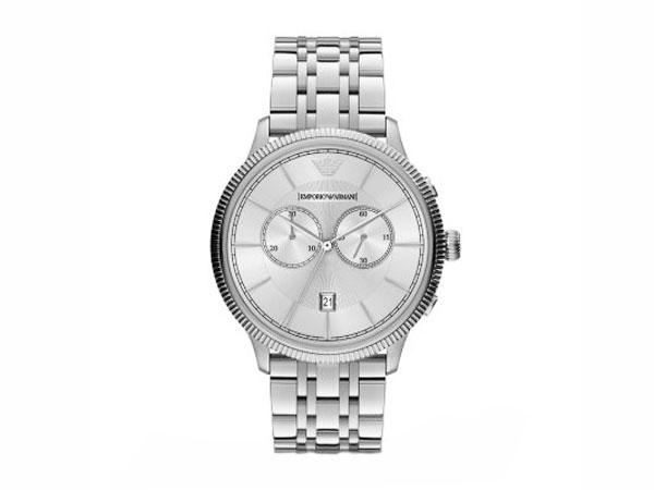 エンポリオ アルマーニ EMPORIO ARMANI クロノグラフ 腕時計 メンズ AR1796 シルバー メタルベルト 送料無料/EMPORIO ARMANI 時計 腕時計 ウォッチ