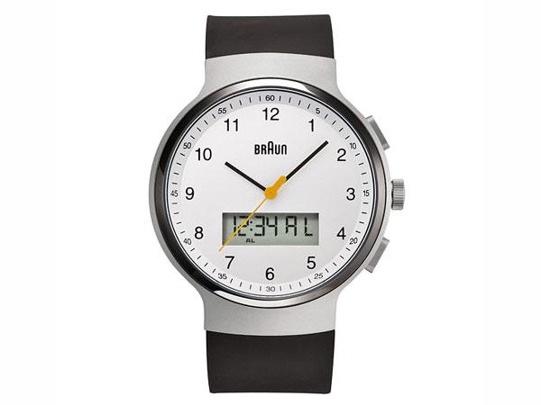 ブラウン BRAUN デュアルタイム アナデジ クオーツ メンズ 腕時計 BN0159WHBKG ホワイト×ブラック ラバーベルト 送料無料/BRAUN ブラウン 時計 腕時計 ウォッチ