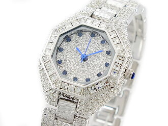 Lira Serre LOUIS LASSERRE natural sapphires quartz ladies watch LL08SV-S Silver x blue metal belt bracelet