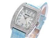 フォリフォリ FOLLI FOLLIE ジルコニア クオーツ レディース 腕時計 S922ZI BLUE シルバー×ブルー レザーベルト