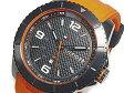 トミー ヒルフィガー TOMMY HILFIGER メンズ 腕時計 1790999 ブラック×オレンジ ラバーベルト