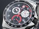 ウェンガー WENGER バタリオン フィールド クロノグラフ スイス製 腕時計 70798 メンズ ブラック×シルバー メタルベルト