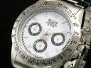 エルジン ELGIN ダイバーズ 腕時計 クロノグラフ メンズ FK1059S-W ホワイト×シルバー メタルベルト