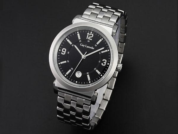 Guy Laroche ギラロッシュ クオーツ メンズ 腕時計 G2005-05 ブラック×シルバー メタルベルト ベルト調整工具無料/送料無料/Guy Laroche ギ・ラロッシュ 時計