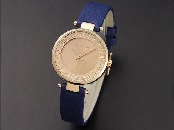 Guy Laroche ギラロッシュ クオーツ レディース 腕時計 L1007-05 ピンクゴールド×ブルー レザーベルト 送料無料/Guy Laroche ギ・ラロッシュ 時計 腕時計 ウォッチ