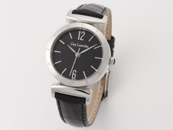 Guy Laroche ギラロッシュ クオーツ レディース 腕時計 L1008-02 ブラック×シルバー レザーベルト 送料無料/Guy Laroche ギ・ラロッシュ 時計 腕時計 ウォッチ