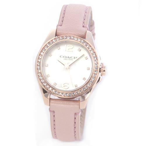 コーチ 煌びやかなラインストーンとホワイトシェルダイヤルの輝き。ラグジュアリーなレディス腕時計。 14502176 送料無料/COACH コーチ 時計 腕時計 ウォッチ