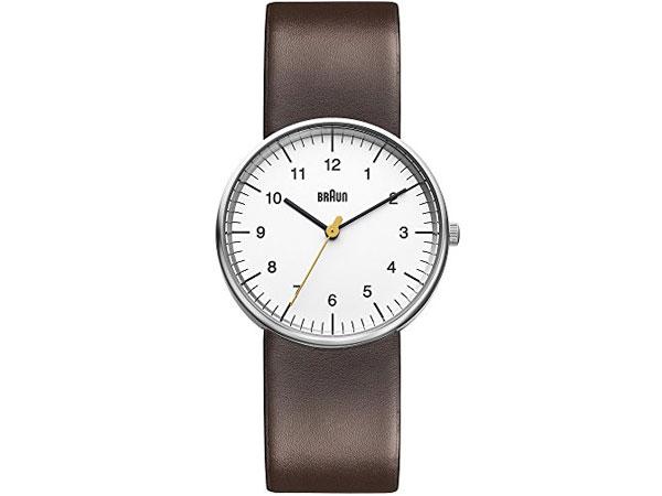 ブラウン BRAUN クオーツ メンズ 腕時計 BN0021WHBRG ホワイト レザーベルト 送料無料/BRAUN ブラウン 時計 腕時計 ウォッチ