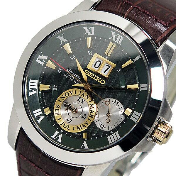 セイコー SEIKO プレミア キネティック パーペチュアル 腕時計 SNP127P1 メンズ 送料無料/SEIKO KINETIC 時計 腕時計 逆輸入【おおさかふ】