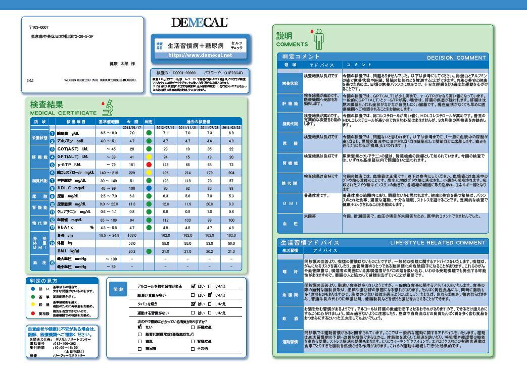 生活習慣病+糖尿病セルフチェック【送料無料】D...の紹介画像2