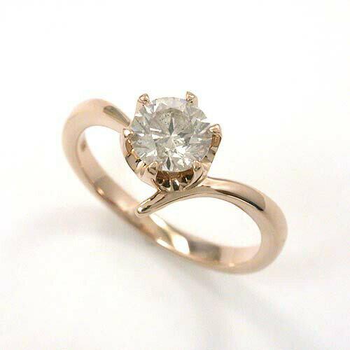 ダイヤモンド リング 0.7カラット 一粒 typeA 18金 18金ピンクゴールド 2種類ございます 送料無料 【送料無料】