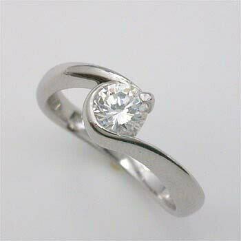 プラチナ(Pt900) ダイヤモンド リング 0.5カラト typeAA 一粒 送料無料 【送料無料】
