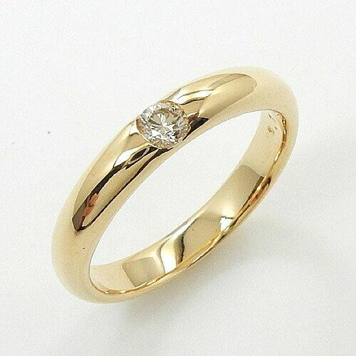 一文字リング 18金ゴールド 0.1カラット ライトブラウンダイヤモンド  K18WG/K18の2種類よりお選びください。(0.1ct)R 【送料無料】