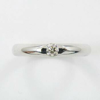K18WG/K18の2種類よりお選びください。ダイヤモンド0.1カラット(0.1ct)リングtypeAAA 【送料無料】