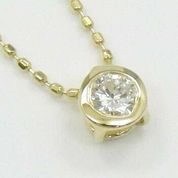 18金(K18)ダイヤモンド0.17カラットペンダントネックレスTypeAAAA 送料無料