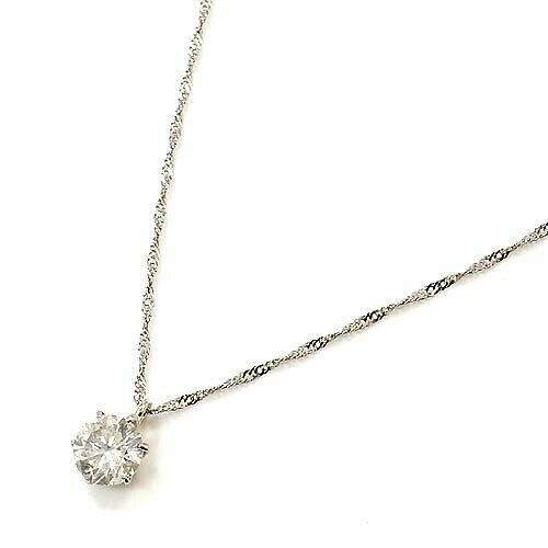 プラチナ900(Pt900) ダイヤモンド 0.4カラット(I1クラリティ・Hカラー)ペンダントネックレス 送料無料 特価 一週間前後限られました