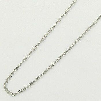 スクリューチェーン 一週間前後可プラチナ850(Pt850)  ネックレス(幅0.6mm 長さ42cm)