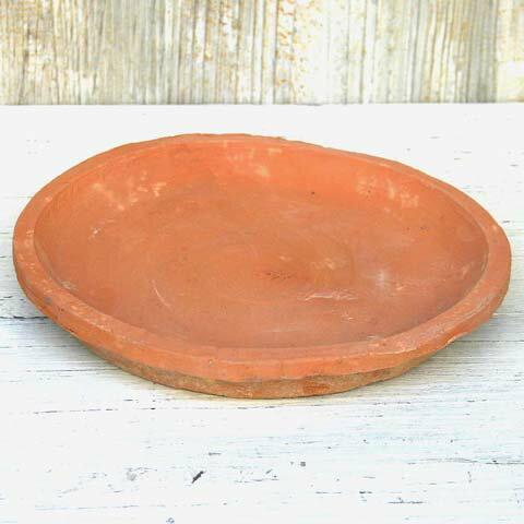 受け皿おしゃれ植木鉢ジャンクポットソーサー3L<23cm赤茶グレー黒テラコッタモスポット鉢皿大きめ受
