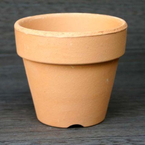 植木鉢おしゃれ和風三河焼素焼鉢5Lすやき<15cm5号底穴あり素焼き陶器鉢赤茶橙ベージュ日本製国産テ