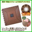 【ウッドデッキ風パネル LEDソーラーライト付】10P28Sep16ハロウィン ギフト