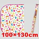 ○明和グラビア ペットの防滑消臭マット レッド INSF-09 100×130cm (ペット/犬/ネコ/マット/国産)