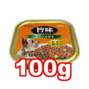 ○ペットプロ 犬用ウェットフード 旨味グルメ トレイ チキン&野菜 100g