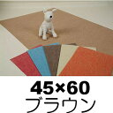 ○奥特殊紡績 ディスメルクリーンワン 45×60サイズ ブラウン (ペット/犬/カーペット/マット/防臭)