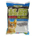 【においを吸収する猫砂/5L】大粒タイプの猫砂。<br><br>消臭・抗菌剤入り。<br><br>「あまえんぼ」