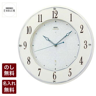 Inventory and ☆ [Rakuten ranking earned 10th place! Sticking to clock Seiko emblem radio clock HS524W SSspecial03mar13_interior