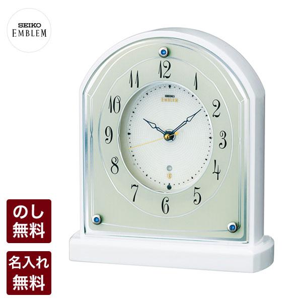 セイコー クロック SEIKO EMBLEM セイコー エムブレム 電波時計 正確な時の流れが心地よいシンプルモダンな電波置き時計 柔らかで優しいフォルム HW587W