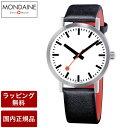 【72時間限定】ポイント最大12倍! モンディーン 腕時計 MONDAINE Classic Pure クラシックピュア 40mm ホワイトダイアル ブラックレザー スイス製腕時計 A660.30360.16OM