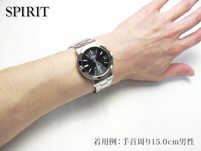 【バンド調整:ラッピング無料】SEIKOセイコーSPIRITスピリットソーラー電波時計ペアモデルメンズ腕時計SBTM169