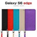 Galaxy S6 edge ケース araree Canvas Diary(アラリー カンバスダイアリー) ファブリック,手帳型,ブックタイプ,フリップ,カード収納,galaxy 6 エッジ,ギャラクシー6 エッジ,galaxy s6 edge カバー,ギャラクシー s6 エッジ カバーギャラクシーs6エッジ カバー