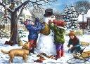 シャドーボックス シャドープリント「雪の日のスノーマン」ei30051