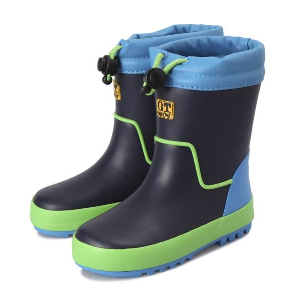 キッズHAWKINSホーキンスレインブーツ(長靴)R/BOOTSHK02023BLUE/GREEN