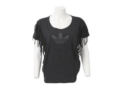 レディース ADIDASウェア  アディダスオリジナルス Tシャツ FRINGE TEE F79362 SP14 BLACK ABCマート楽天市場店