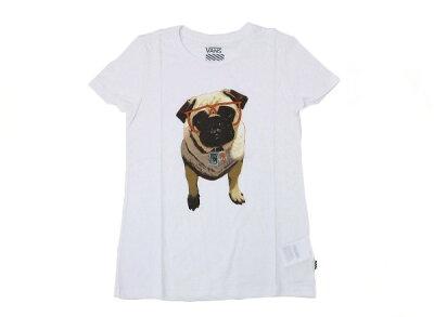 レディース VANSアパレル  バンズ Tシャツ VANS x ASPCA PUG TEE VN-0WFVD24 SP14 (ASPCA)DOG ABCマート楽天市場店