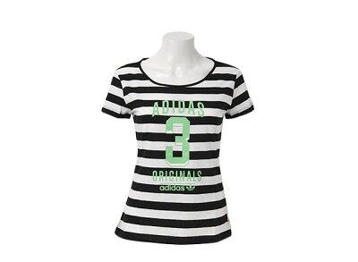 レディース ADIDASウェア  アディダスオリジナルス Tシャツ UNI LOGO TEE Q2 F77832 SP14 BLACK/RUNWHI ABCマート楽天市場店