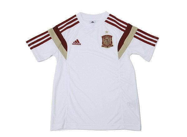 キッズ 【ADIDASウェア】 アディダス 14 スペイン代表 Tシャツ 半袖 F84748 WSP WHT/VICR/LGF/CR