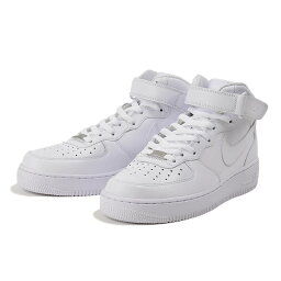 【NIKE】 <strong>ナイキ</strong> AIR FORCE 1 '07 MID エアフォース 1 '07 ミッド 315123-111 111WHT/WHT