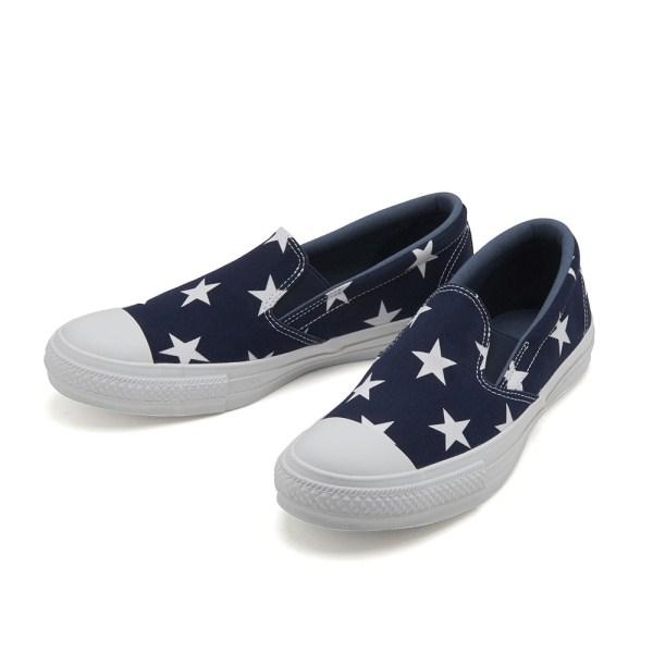 【CONVERSE】 コンバース ALL STAR ST SLIP-ON オールスター ST スリップオン 32861945 NAVY