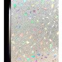 貼るだけで柄ガラス 柄付きガラス スリガラス ステンドガラス DuoFire 3D ガラス フィルム めかくしシート 窓用 目隠し 遮光 断熱 結露防止 ステンドグラス すりガラス 貼っては がせる 窓に貼るカーテン 外から見えない おしゃれ 90cm×200cm 砂利
