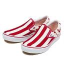 【VANS】 ヴァンズ SLIP ON スリッポン V98CL STDT 15SP RED/WHITE