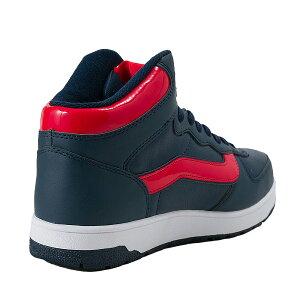 冬靴【VANS】ヴァンズハイカットスニーカーVLIZZARDMIDV8019PP15WINAVY/RED