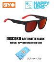 ■ SPY OPTICS スパイ【 DISCORD ディスコード 】【 SOFT MATTE BLACK - RED FADE - HAPP...
