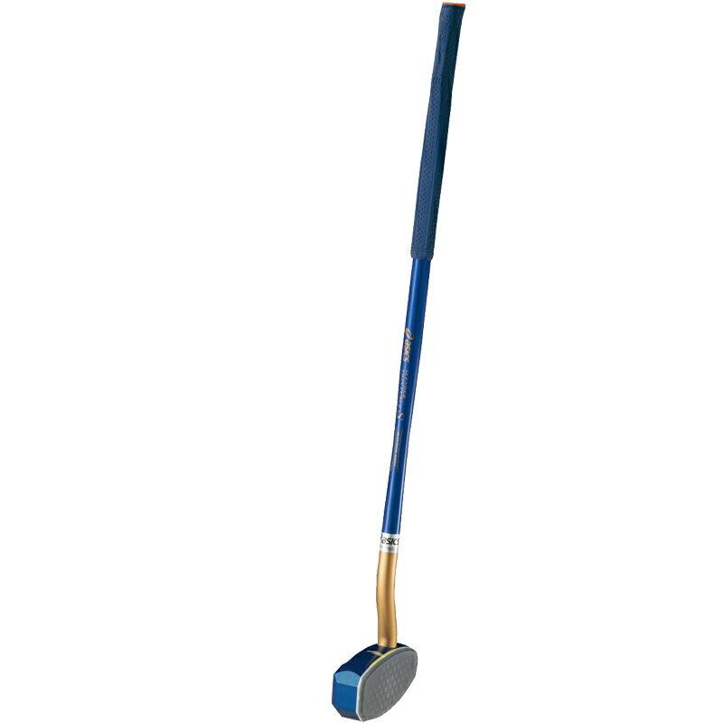 【アシックス】 グラウンドゴルフ クラブ ツインカーブS(一般右打者専用) 協会認定品 サイズ:84cm (GGG178) 42ブルー(グリップ:5020 ネイビー×オレンジ)