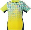 取寄せ品 【ゴーセン】 レディースゲームシャツ (T1807) 53 ネオンイエロー XL