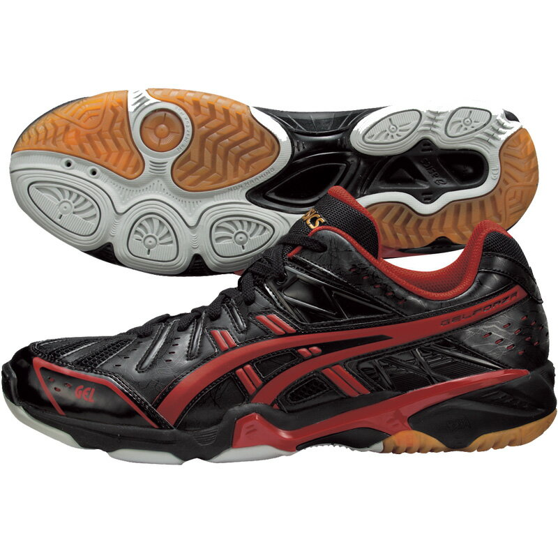 Red And Black Asics Volleyball Shoes lo Asics/ Volleyball Shoes