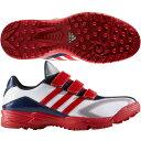 【アディダス】 アディピュアTR 野球シューズ/BASEBALL/adidas (GUB62) CG4557 クリスタルホワイト/パワーレッド/カレッジネイビー